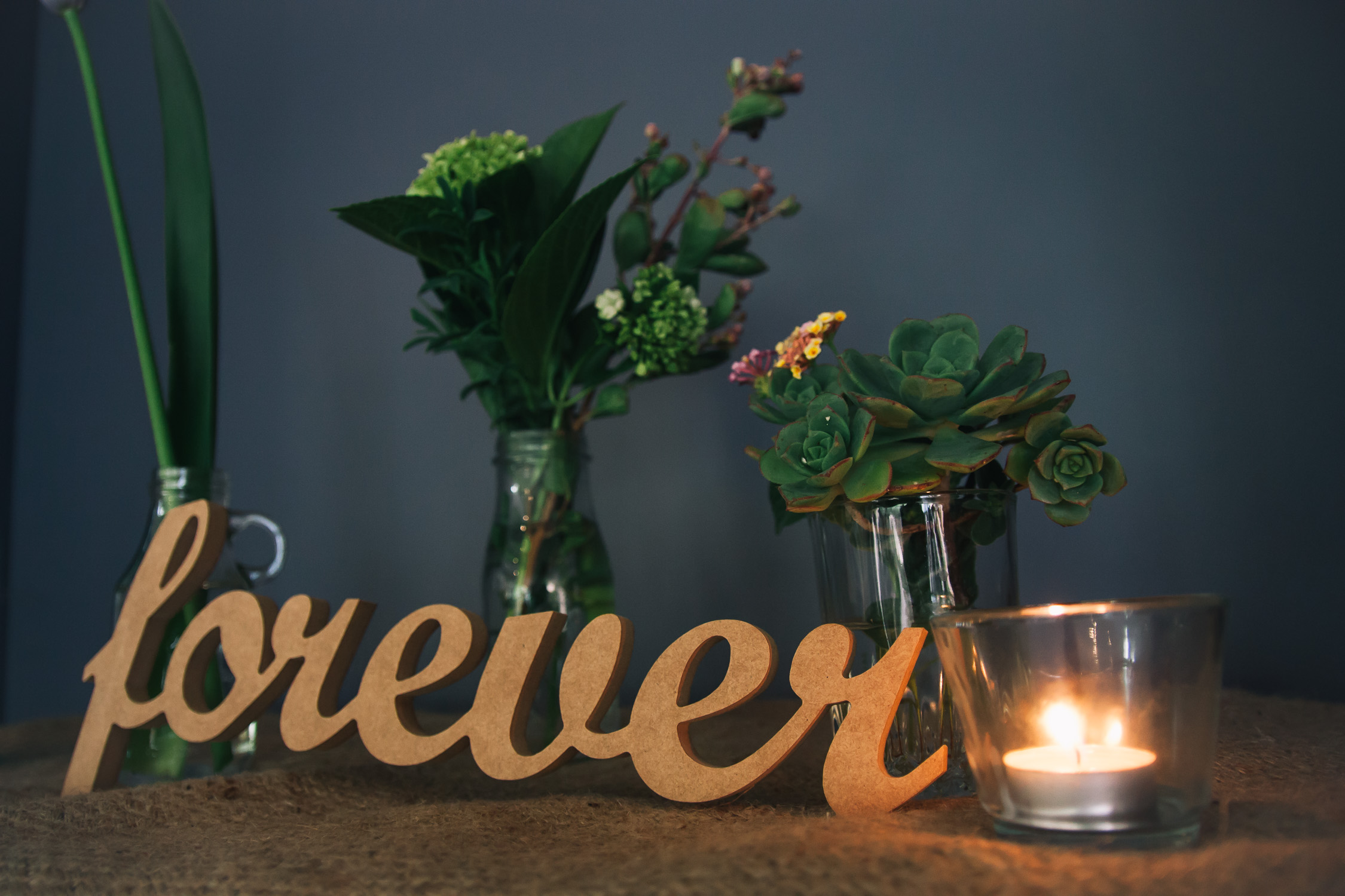Lynsey and Kai Melbourne wedding forever laser cut decoration