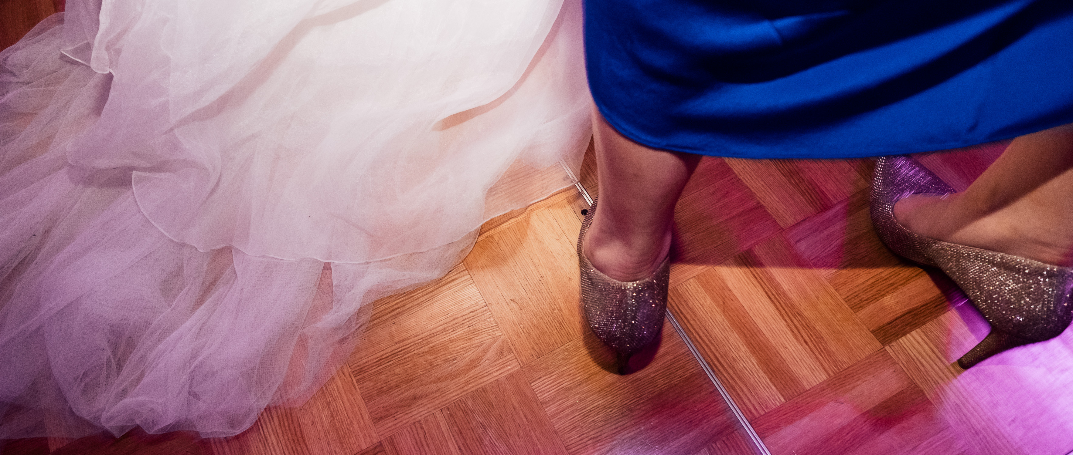 Lynsey and Kai's Melbourne wedding - dancing and glittery shoes at wedding reception at the Marriott Hotel