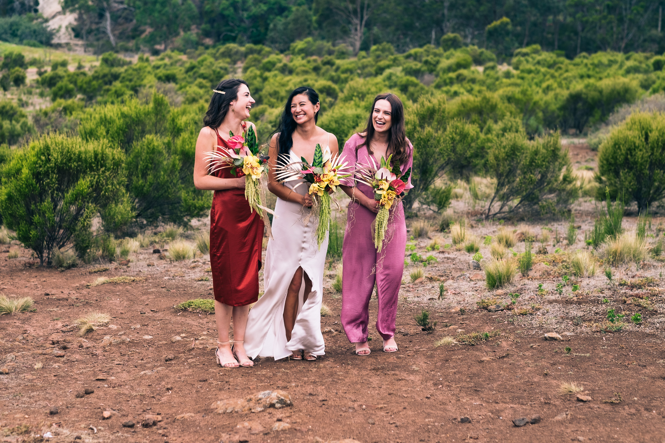 Melbourne Sunnystones Camp Wedding - bridesmaid portraits
