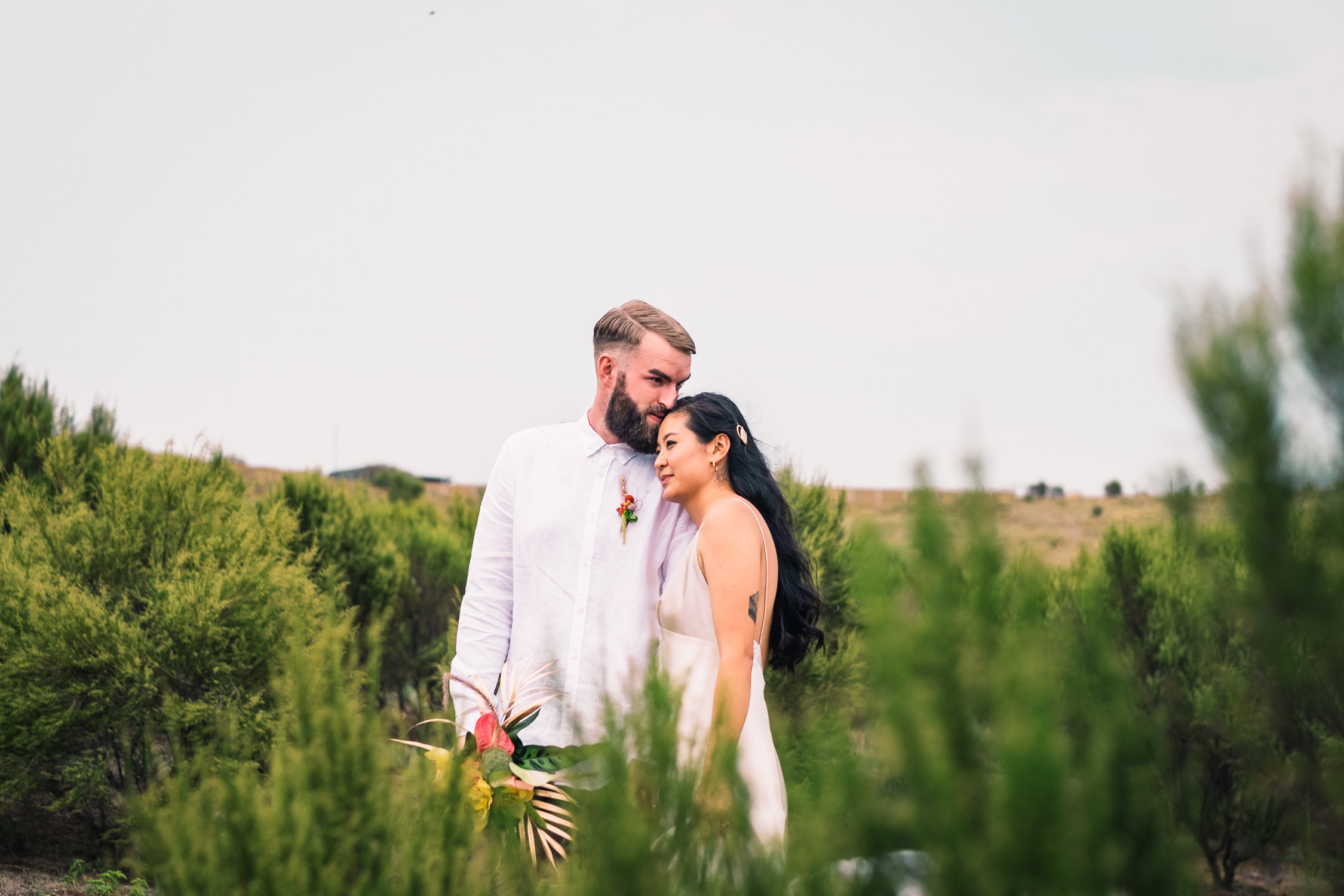 Melbourne Sunnystones Camp Wedding - bride and groom couple portraits