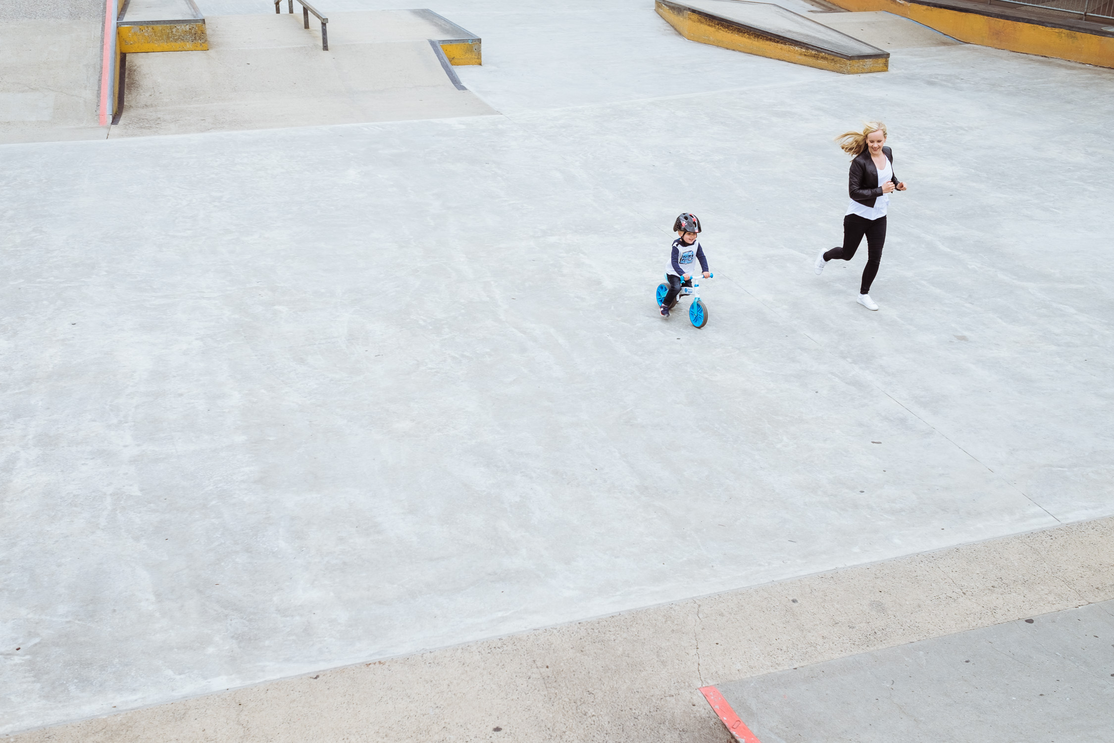 Day In The Life - mum and toddler in skate park